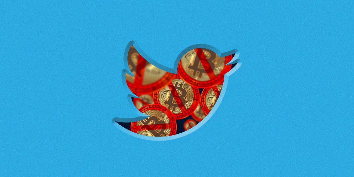 Twitter вводит запрет рекламы криптовалют