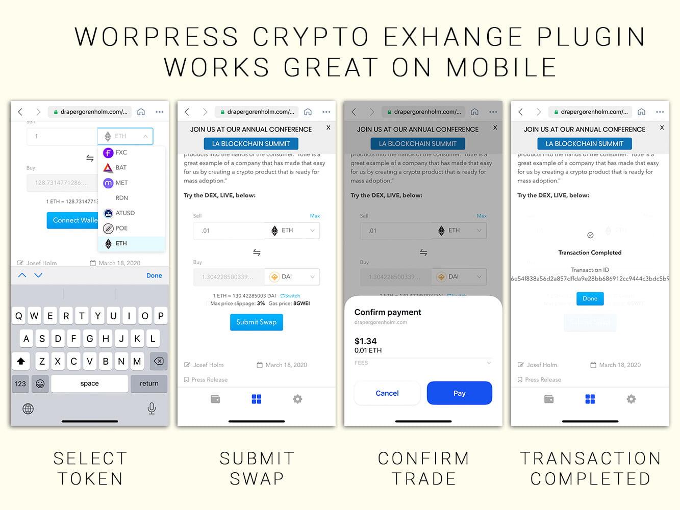 Новый плагин позволит развернуть криптовалютную биржу на WordPress