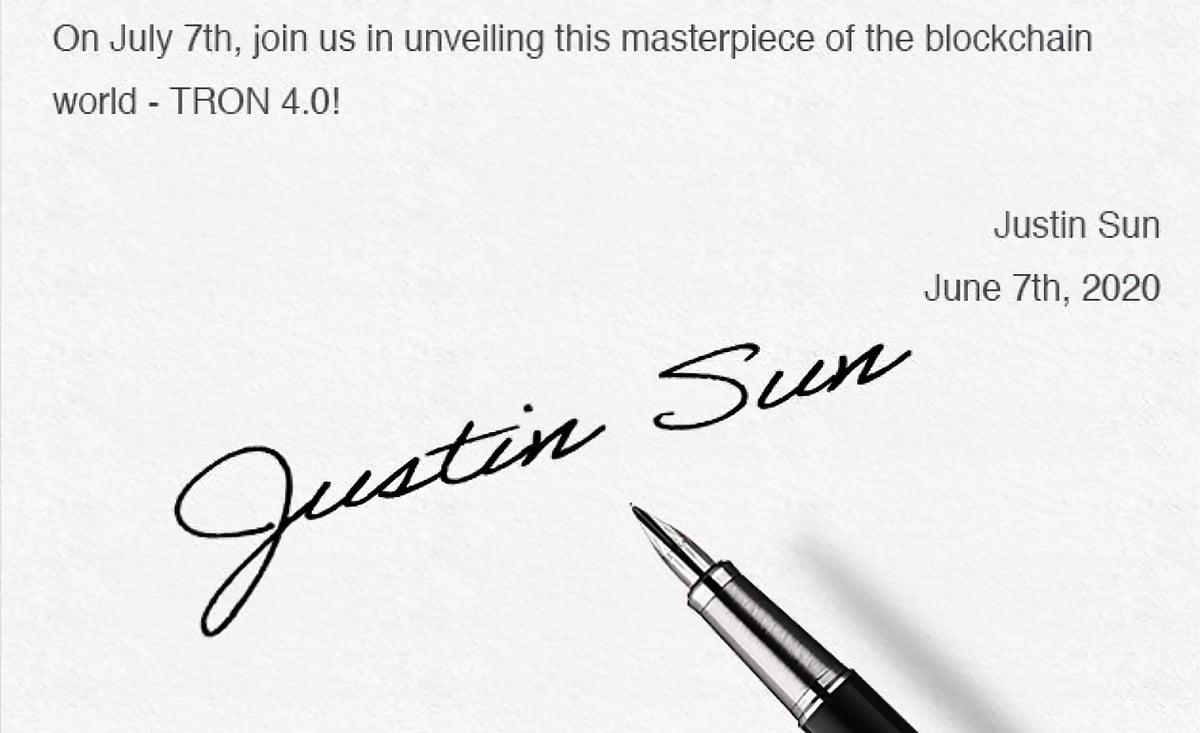 Justin Sun Tron