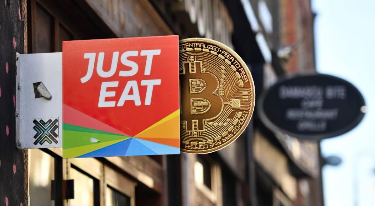 Французская служба доставки еды Just Eat начала принимать биткон
